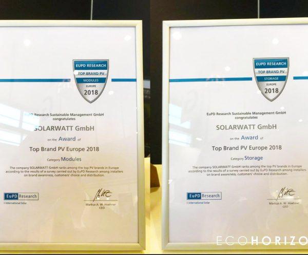 Solarwatt panels win Top Brand PV Storage 2018